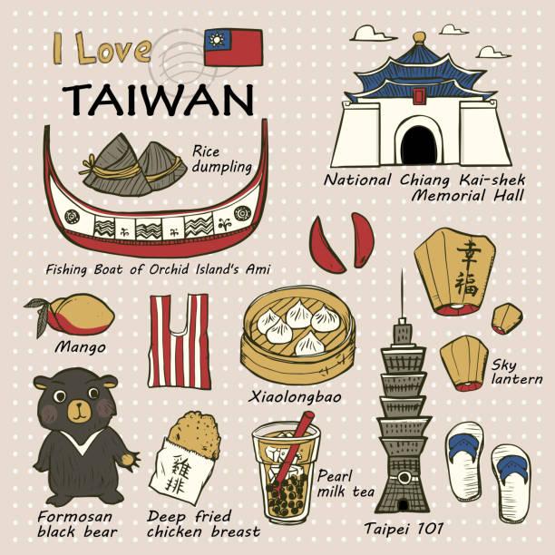 台湾有名な物や風景 - 台湾点のイラスト素材/クリップアート素材/マンガ素材/アイコン素材