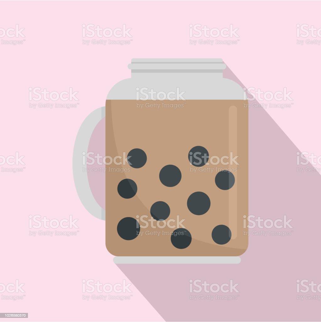 Taiwan jar cocktail icon, flat style vector art illustration
