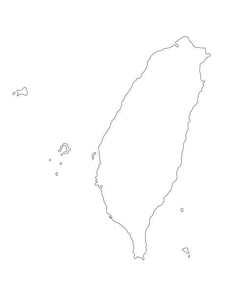 台湾マップ - 台湾点のイラスト素材/クリップアート素材/マンガ素材/アイコン素材