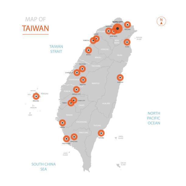 管理部門と台湾の地図。 - 台湾点のイラスト素材/クリップアート素材/マンガ素材/アイコン素材