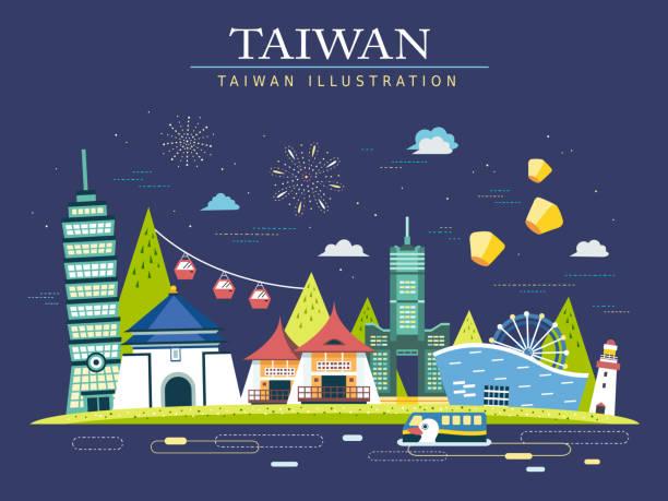 台湾旅のポスター - 台湾点のイラスト素材/クリップアート素材/マンガ素材/アイコン素材