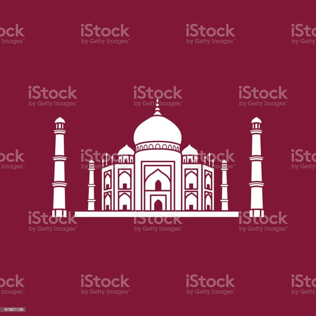 Taj Mahal, Agra, India vector art illustration
