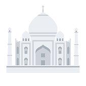istock Taj Mahal Icon on Transparent Background 1283737439