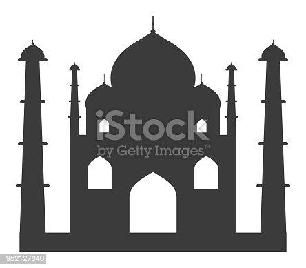 Vector of Taj Mahal Icon