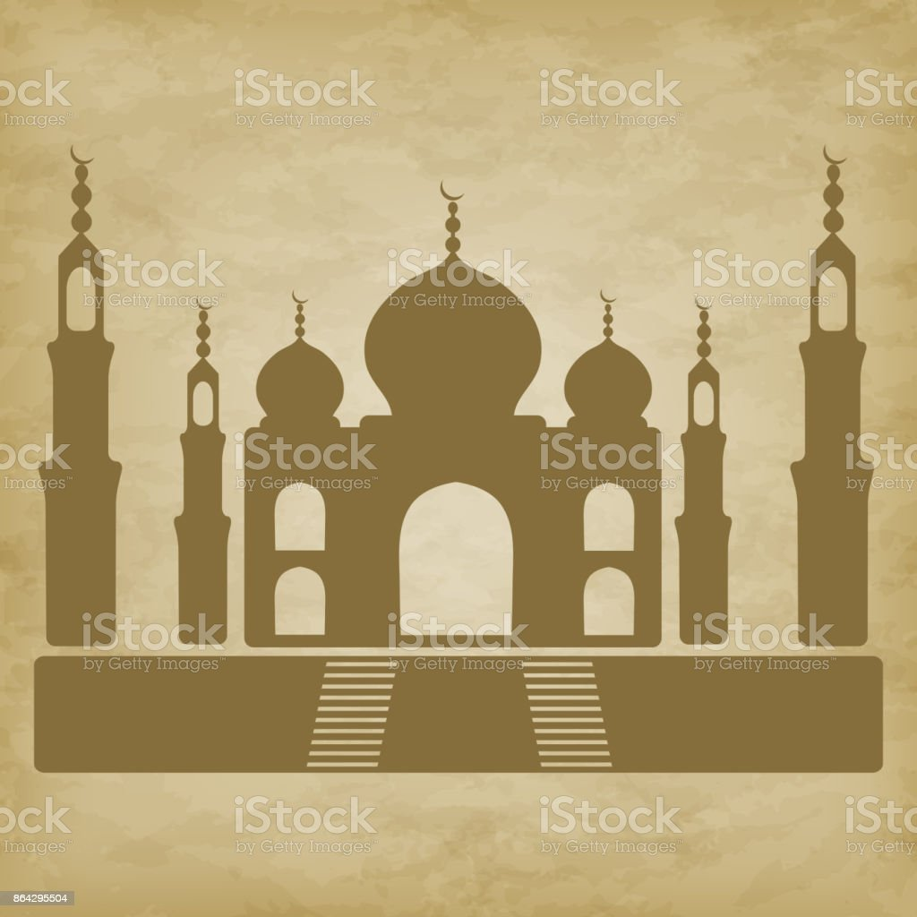 Taj Mahal on grunge background royalty-free taj mahal on grunge background stock vector art & more images of abstract