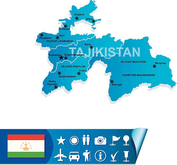 Royalty Free Tajikistan Clip Art Vector Images Illustrations - Tajikistan map vector