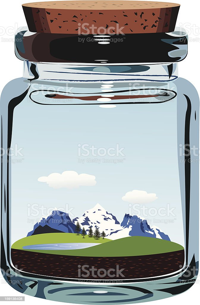 Take a breath of fresh Alpine air royalty-free stock vector art