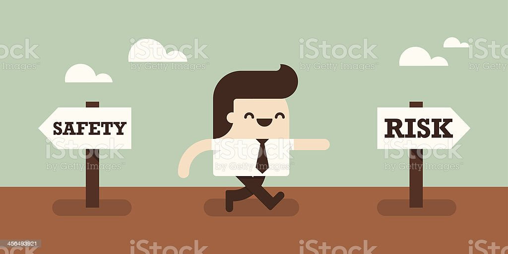 Take A Risk vector art illustration