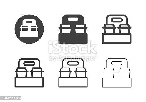 Take Away Coffee Icons Multi Series Vector EPS File.