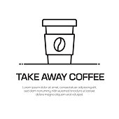 istock Take Away Coffee Vector Line Icon - Simple Thin Line Icon, Premium Quality Design Element 1142807354