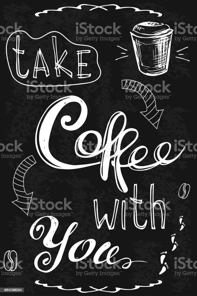 Take coffee with you. royalty-free take coffee with you stock vector art & more images of banner - sign