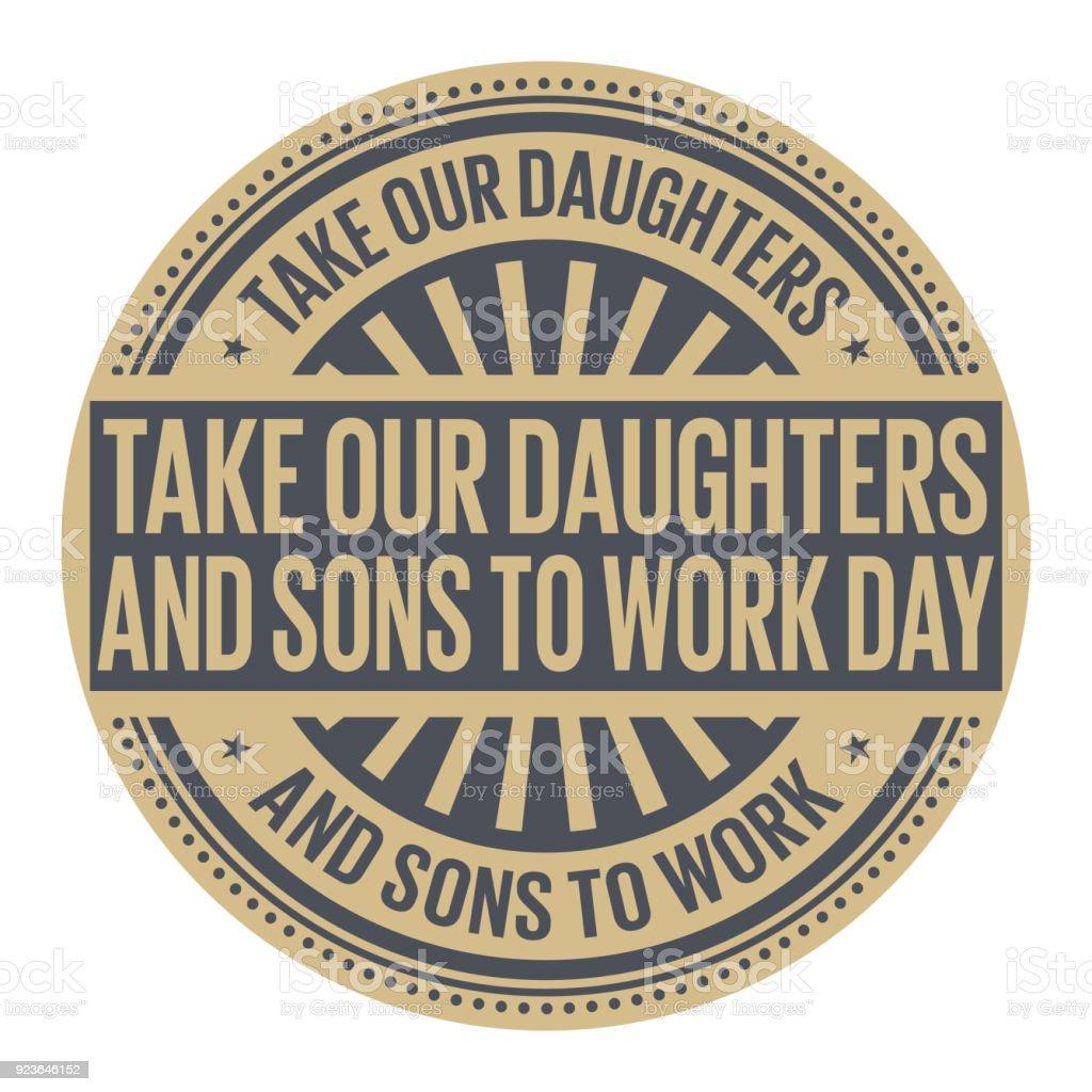 Prendre nos filles et fils de travailler de jour prendre nos filles et fils de travailler de jour vecteurs libres de droits et plus d'images vectorielles de abstrait libre de droits