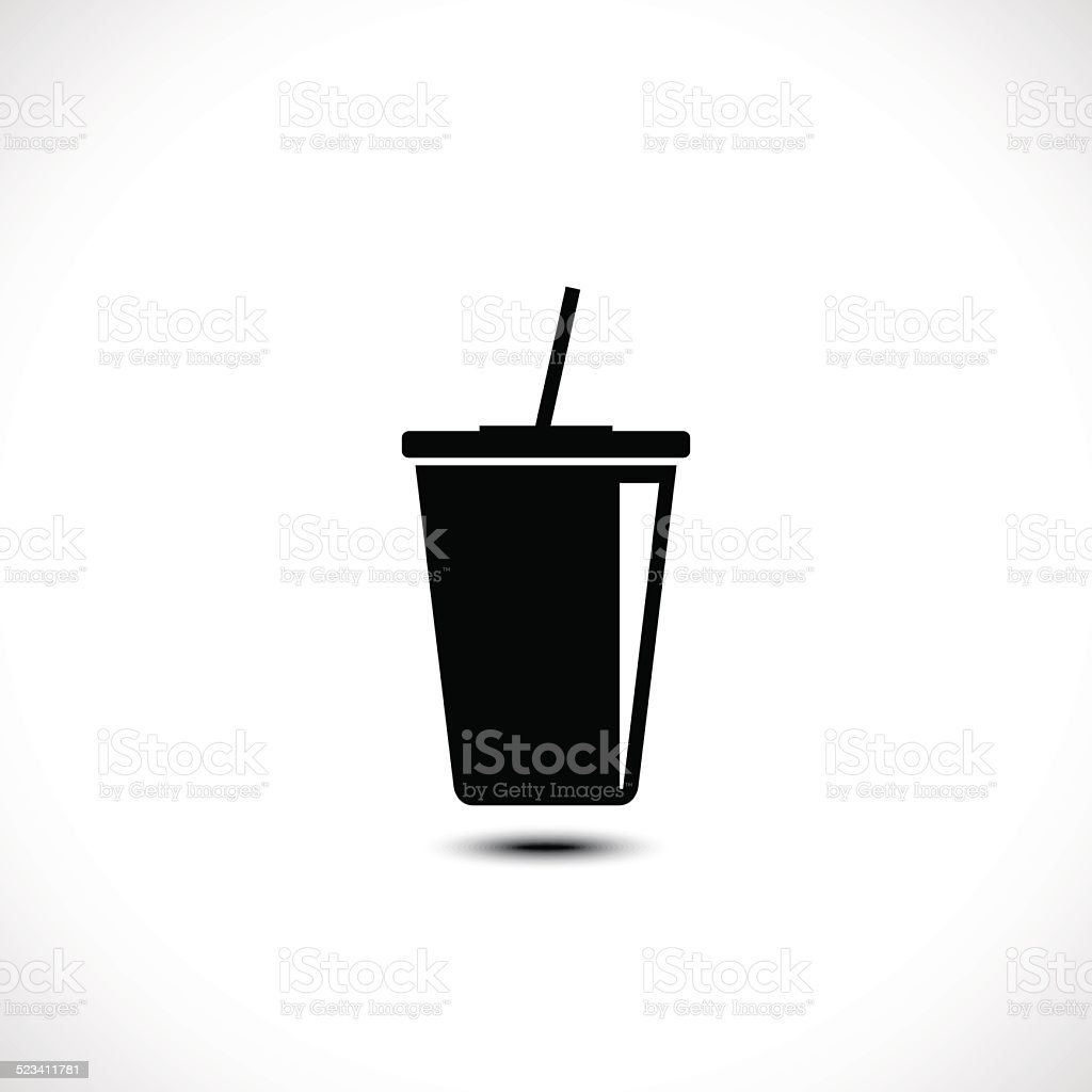 Takeaway paper cup icon vector art illustration