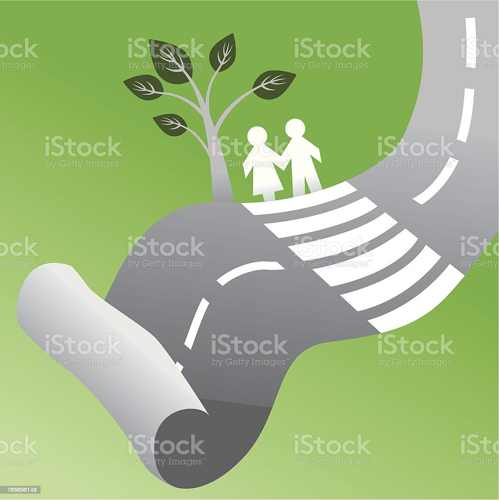 Taking a decision together royalty-free stock vector art