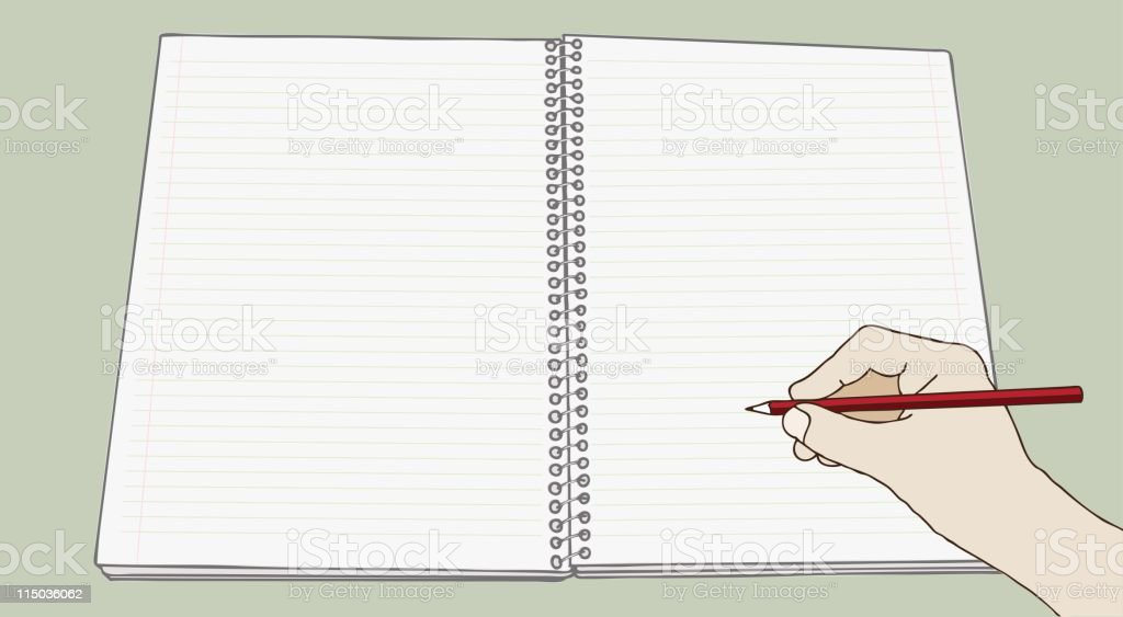 Taking a note vector art illustration