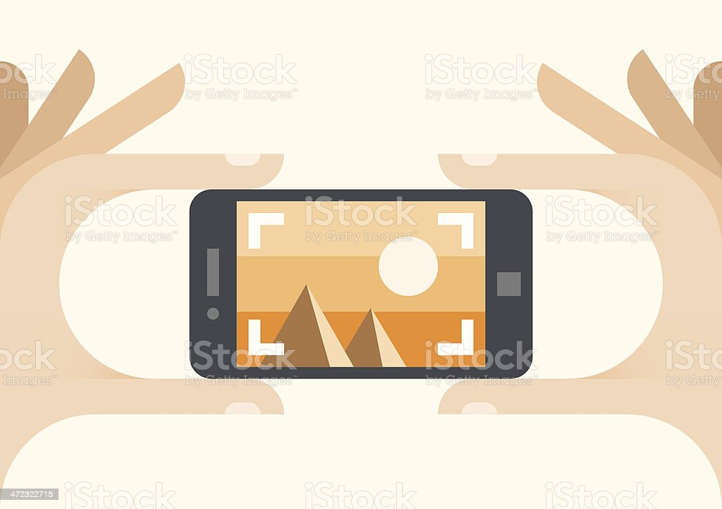 Taking a photo royalty-free taking a photo stock vector art & more images of abstract