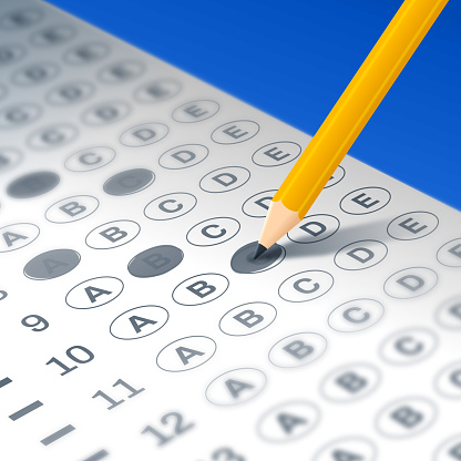 Taking a Test or Filling Out a Form
