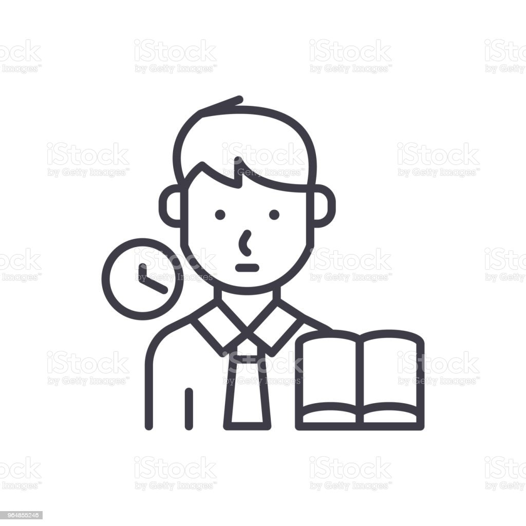 Taking an examination black icon concept. Taking an examination flat  vector symbol, sign, illustration. royalty-free taking an examination black icon concept taking an examination flat vector symbol sign illustration stock vector art & more images of adult