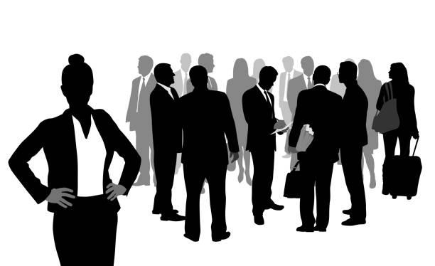ilustrações de stock, clip art, desenhos animados e ícones de taking care of details business woman - portrait of confident business