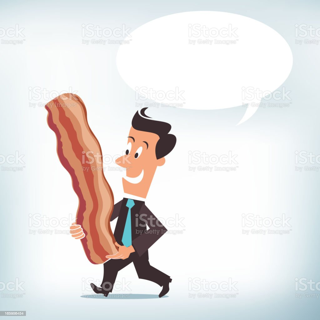 Taking Home the Bacon vector art illustration