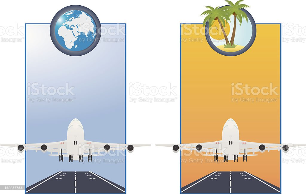 Taking off airplane royalty-free stock vector art