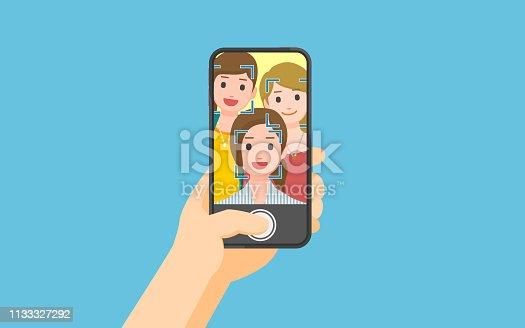 istock Taking photo on smartphone 1133327292