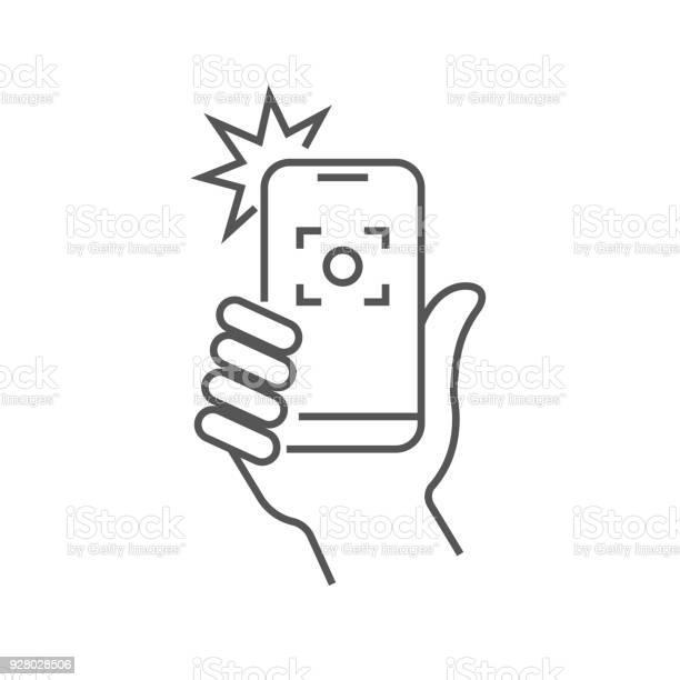 Taking selfie on smartphone concept creative icon selfie label hand vector id928028506?b=1&k=6&m=928028506&s=612x612&h=psqromcr8usgikzlvbwnlk2km6qetffkbqhdoqzv6pc=