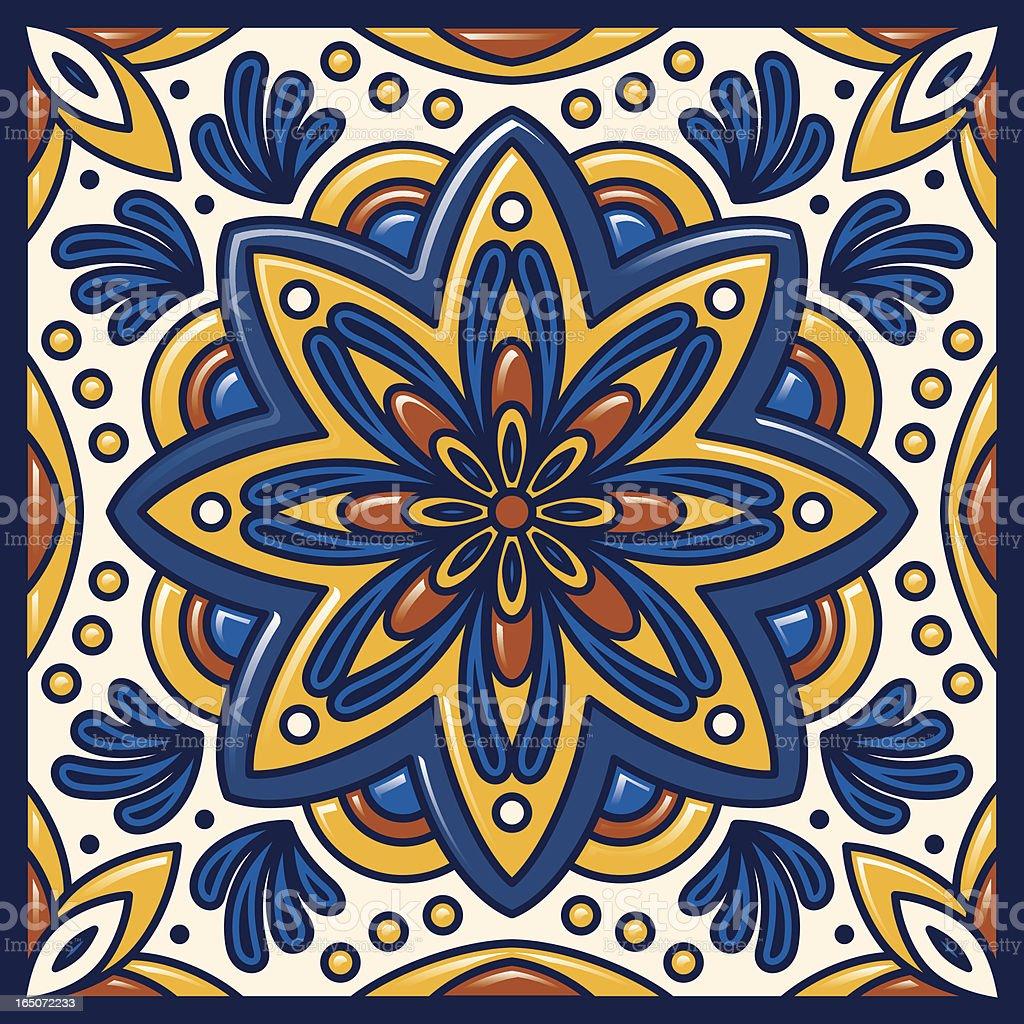 Talavera Tile royalty-free stock vector art