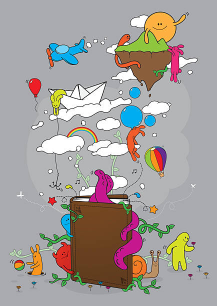 Tale book vector art illustration