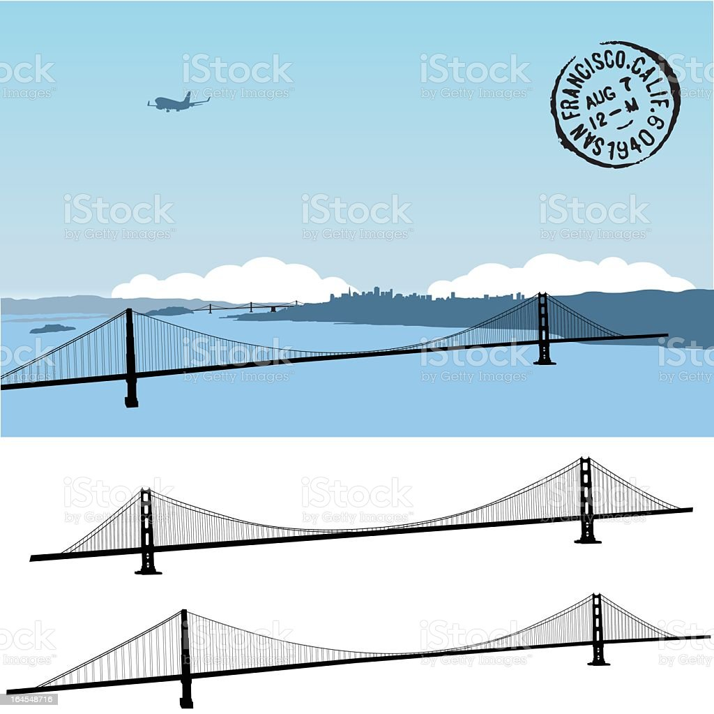Tale of two bridges royalty-free stock vector art