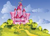 Tale  pink castle