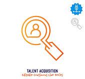 istock Talent Acquisition Continuous Line Editable Stroke Icon 1264363203