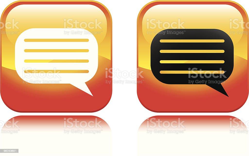 Talk Bubble Icon - Royalty-free Color Image stock vector