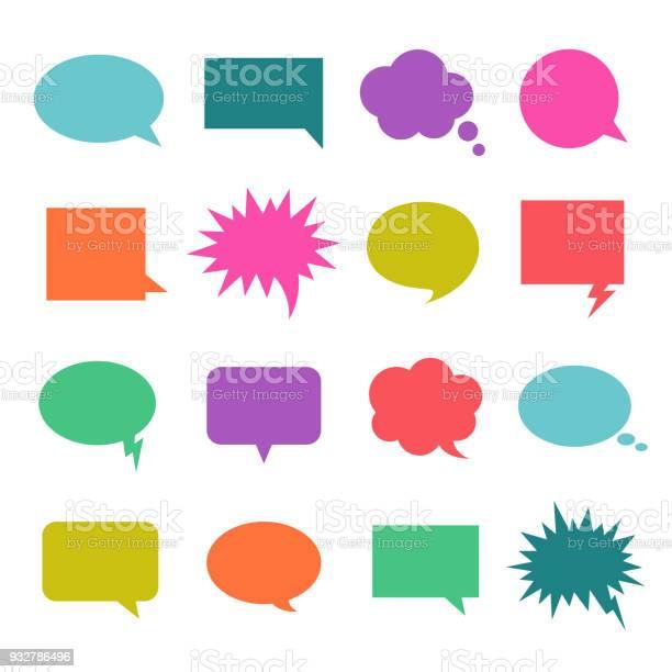 談話顏色氣泡向量圖形及更多一組物體圖片