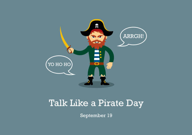 talk like a pirate day vector - pirates stock illustrations, clip art, cartoons, & icons