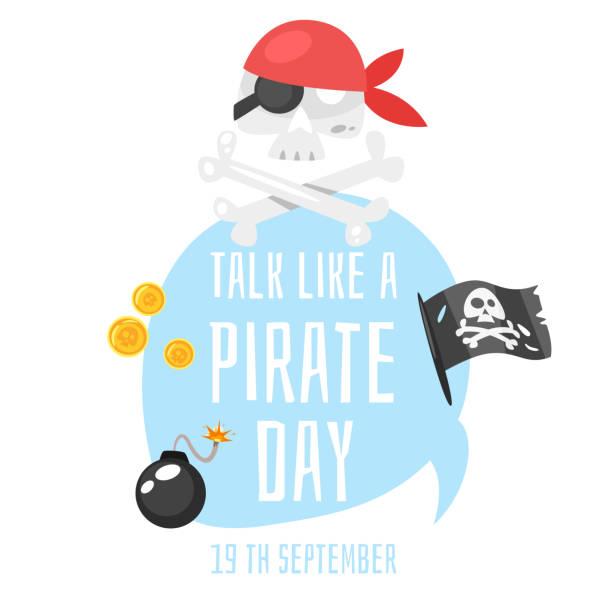 talk like a pirate - pirates stock illustrations, clip art, cartoons, & icons