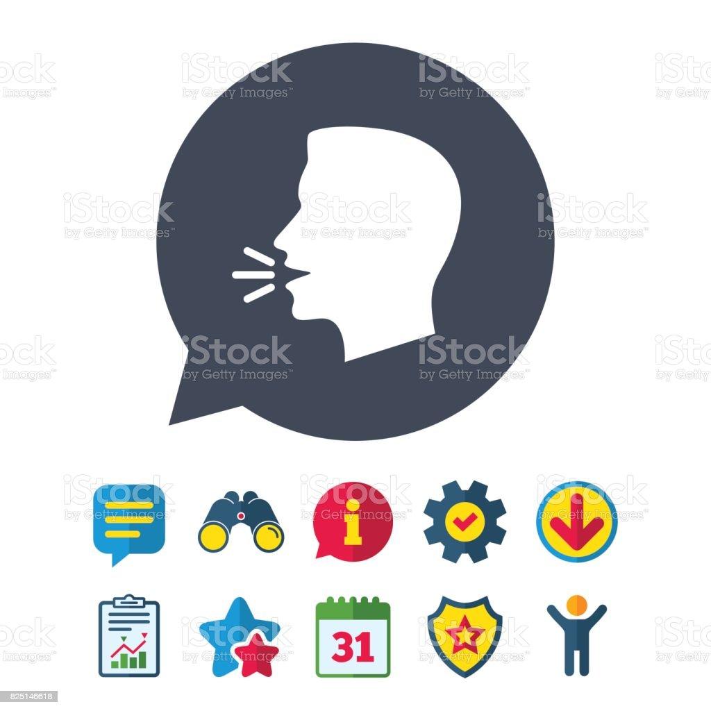 Talk Or Speak Icon Loud Noise Symbol Stock Vector Art More Images