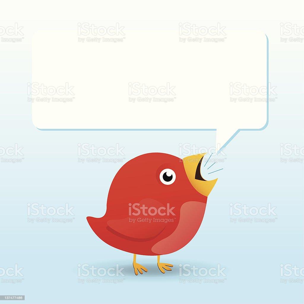 Talking Bird vector art illustration