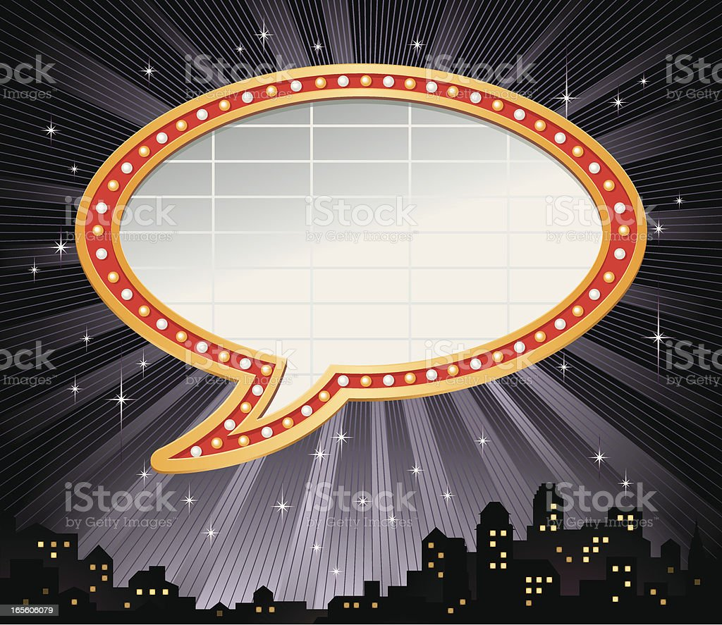 Talking Bubble Marquee Frame Vector royalty-free talking bubble marquee frame vector stock vector art & more images of arts culture and entertainment