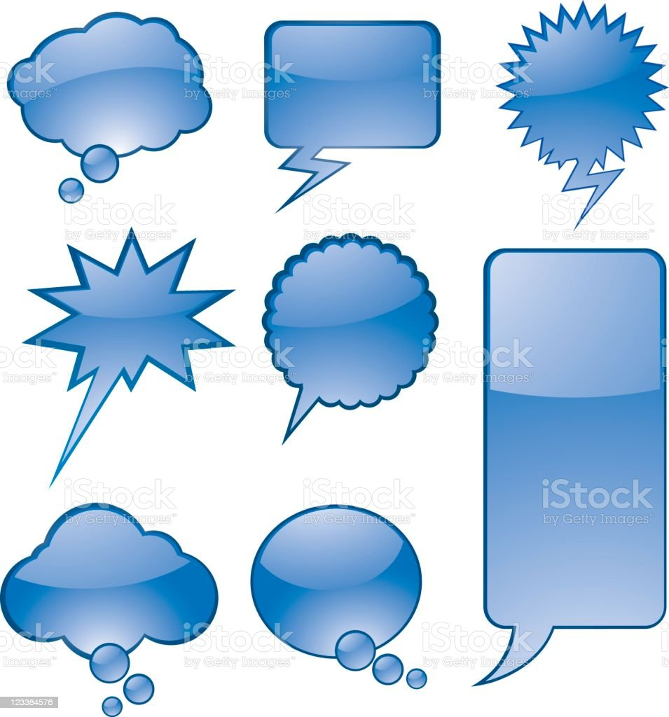 Talking bubbles royalty-free stock vector art