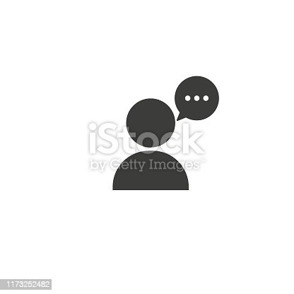 Talking chat icon on white background.Vector illustration