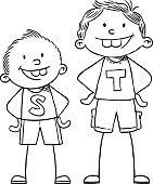 Hand drawing children illustrations.