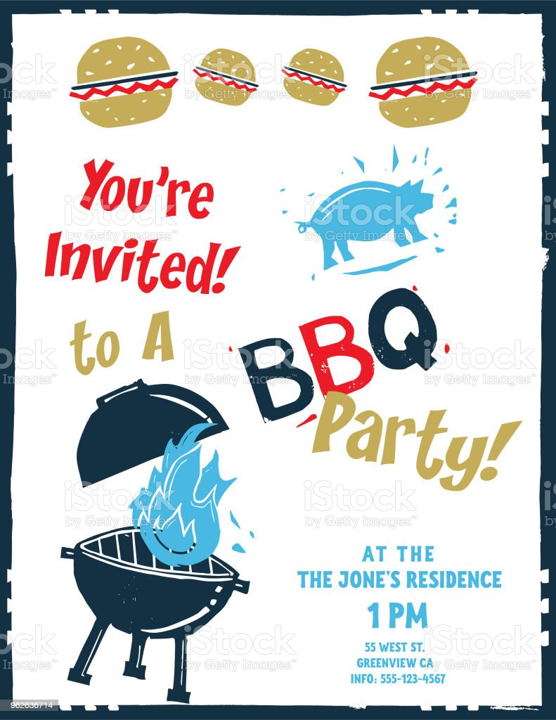 tall bbq invites stock vector art more images of alphabet