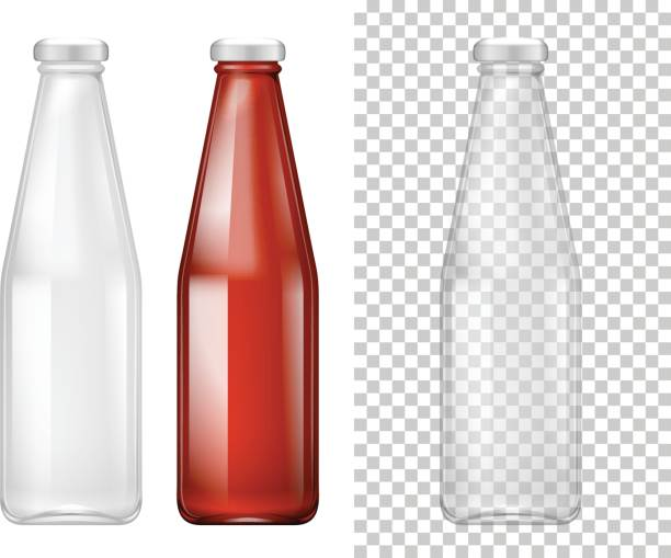 Tall bottle design with red liquid Tall bottle design with red liquid illustration tomato sauce stock illustrations