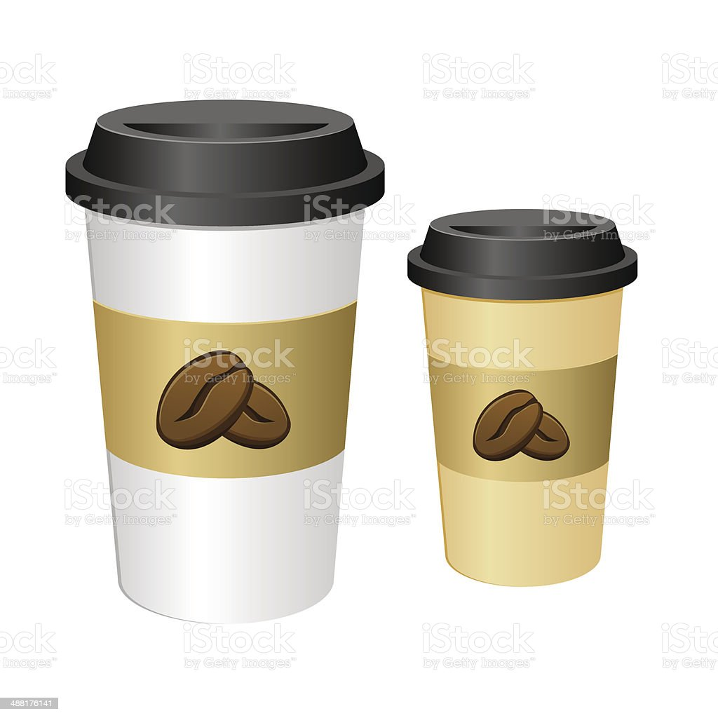 Tall Coffee Cup vector art illustration
