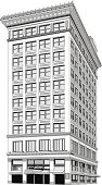 Tall downtown building vector illustrationhttp://www.twodozendesign.info/i/1.png