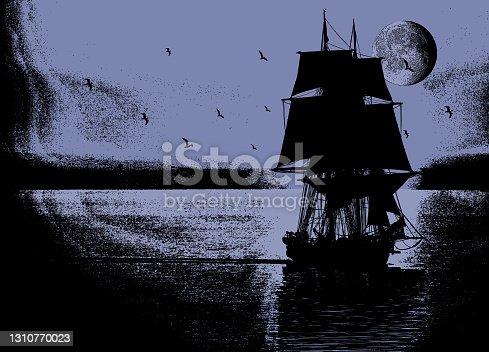 istock Tall ship 1310770023