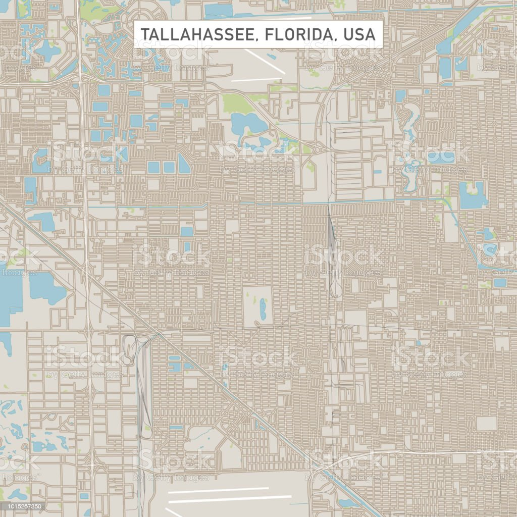 Map Of Tallahassee Florida.Tallahassee Florida Us City Street Map Stock Vector Art More