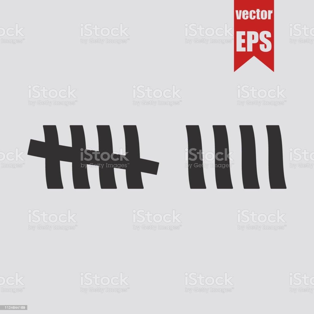 Tally marks icon.Vector illustration.