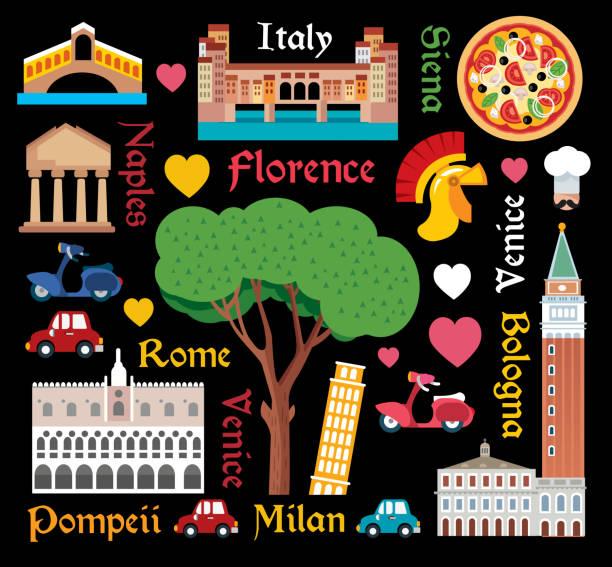 italy reisen - pompeii stock-grafiken, -clipart, -cartoons und -symbole
